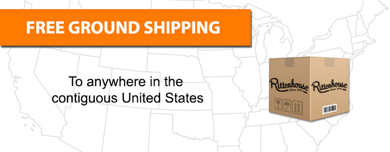Free Ground (3-5 Day) Shipping on nearly all products to destinations in the Lower 48 US States.